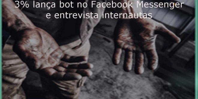 3% lança bot para interagir com o público no Facebook