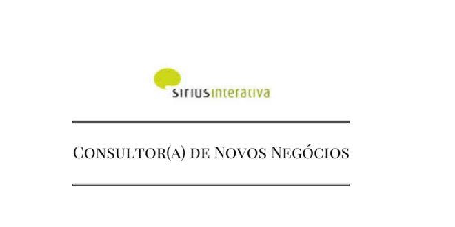 Sirius Interativa - Consultor(a) de Novos Negócios